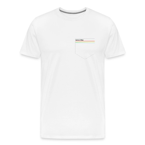Pride Pocket Love is free - Männer Premium T-Shirt
