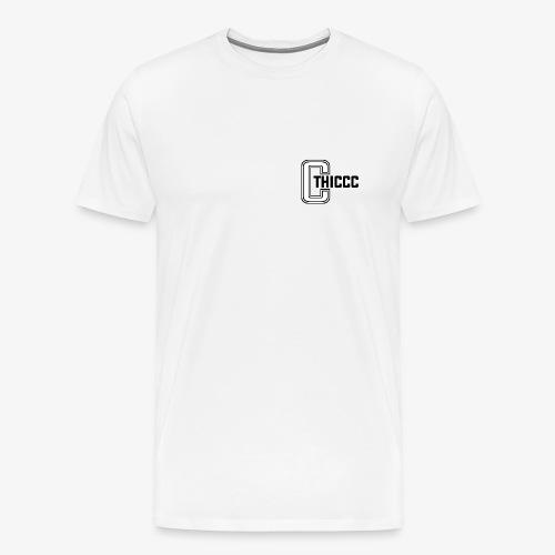 thiccc logo WHITE and BLACK - Men's Premium T-Shirt