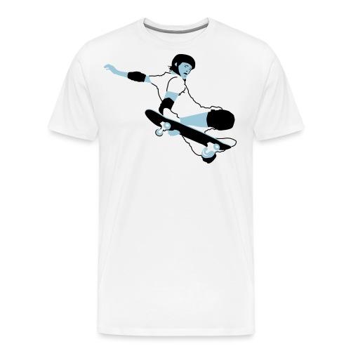 Skateboarder Trick im Sprung - Männer Premium T-Shirt