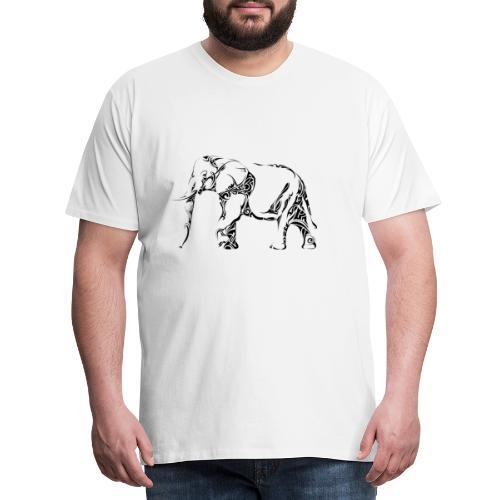 Elefant Silouhette - Männer Premium T-Shirt