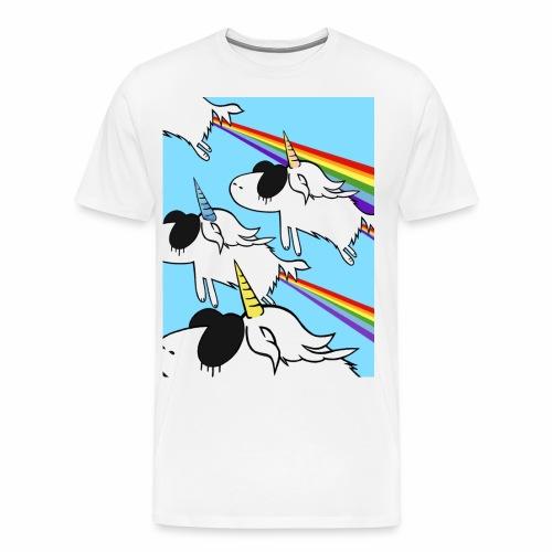 Das Fliegen der Einhörnern - by Eulen Heulen - Männer Premium T-Shirt