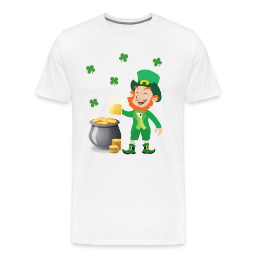 Irish Leprechaun With Pot Of Gold St. Patricks Day - Men's Premium T-Shirt