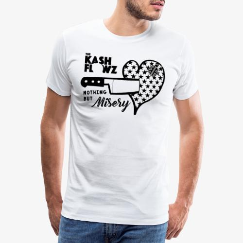 Nothing But Misery Knife Heart Black - T-shirt Premium Homme