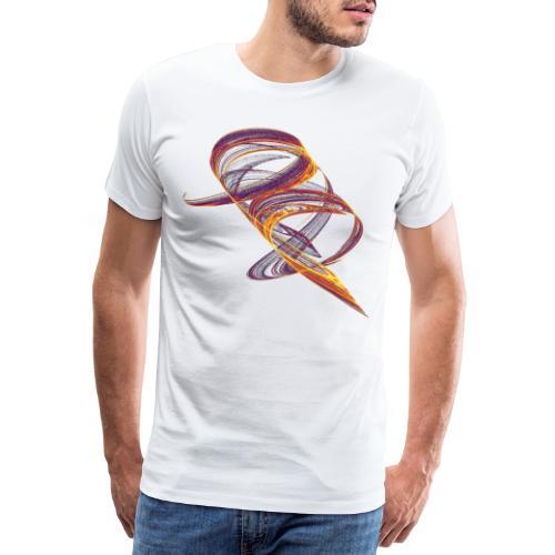 Aquarell Kunstgrafik Gemälde Bild Chaos 11657i - Männer Premium T-Shirt