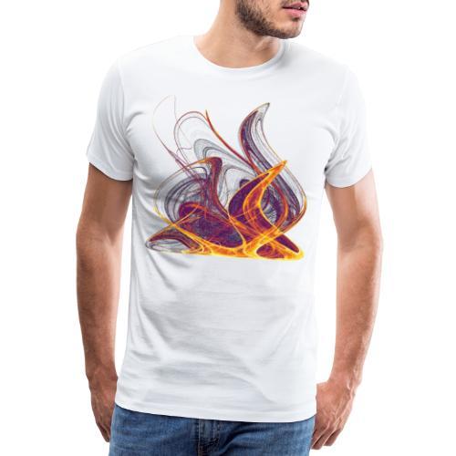 Kaminfeuer Lagerfeuer Flammengezüngel Feuer 12435i - Männer Premium T-Shirt
