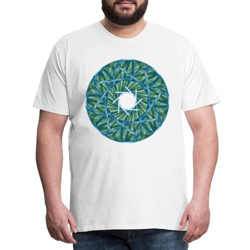 Rosette aus Dornen und Grashalmen Mandala 12247oce - Männer Premium T-Shirt