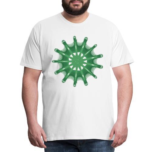 grünes Steuerrad Grüner Seestern 9376alg - Männer Premium T-Shirt