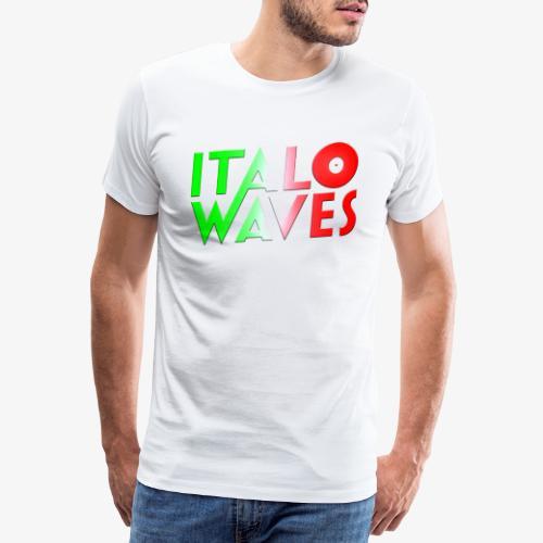 Italo Waves logotyp - Premium-T-shirt herr