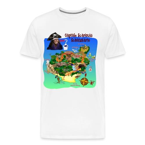 Captain Scarlocks Schatzkarte 1 - Männer Premium T-Shirt