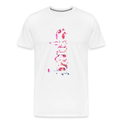 Aquarell Coachella Line - Männer Premium T-Shirt