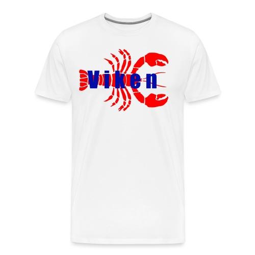 Vorren Logo HUMMERSÄSONG (Röd/Blå) - Premium-T-shirt herr