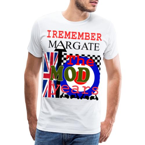 REMEMBER MARGATE - THE MOD YEARS 1960's - Men's Premium T-Shirt