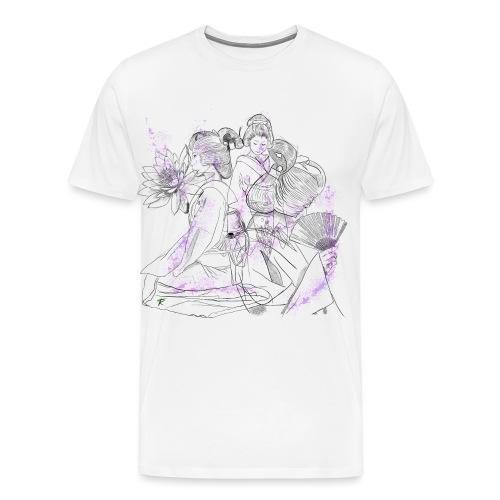 Geisha color - Maglietta Premium da uomo