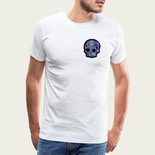 Skull craneo metalico - Camiseta premium hombre