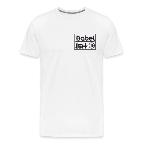 BABEL-ISH LOGO BLACK - Mannen Premium T-shirt