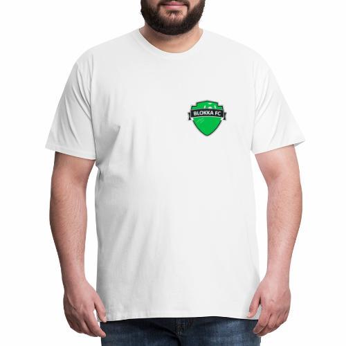 Blokka FC - Grønn logo - Premium T-skjorte for menn