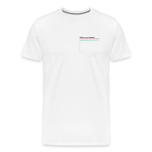 Pride Pocket Follow the Rainbow - Männer Premium T-Shirt