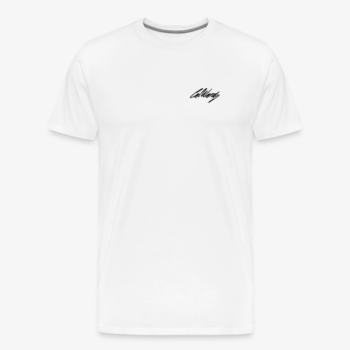 Cal Wardy Signature - White - Black Font - T-Shirt - Men's Premium T-Shirt