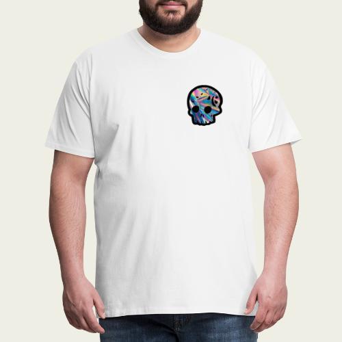 Skull craneo reflejante - Camiseta premium hombre