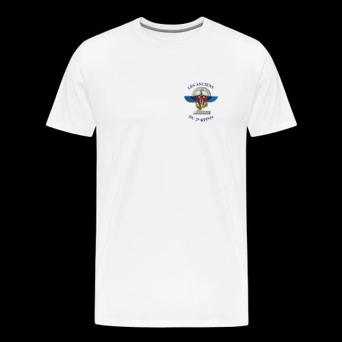ANCIENS2 logo texte bleu detoure BD png - T-shirt Premium Homme