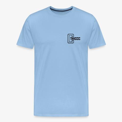 thiccc logo White - Men's Premium T-Shirt