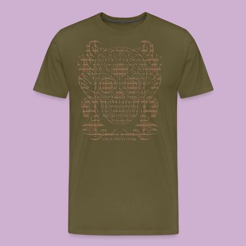 SKULL FLOWERS LEO - Männer Premium T-Shirt