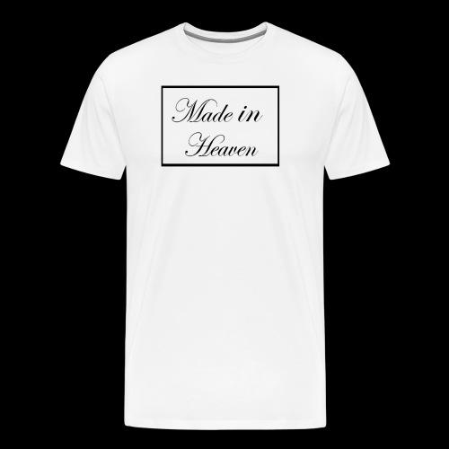 Made in Heaven Logo ,Black on white - Men's Premium T-Shirt