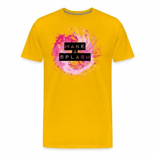 Make a Splash - Aquarell Design - Männer Premium T-Shirt