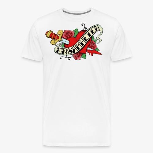 EnsamhetenLogo20cm - Premium-T-shirt herr
