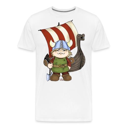 Wikinger Erik mit Schiff - Männer Premium T-Shirt