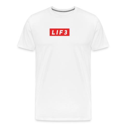 LIF3 Original Box Logo - Premium-T-shirt herr