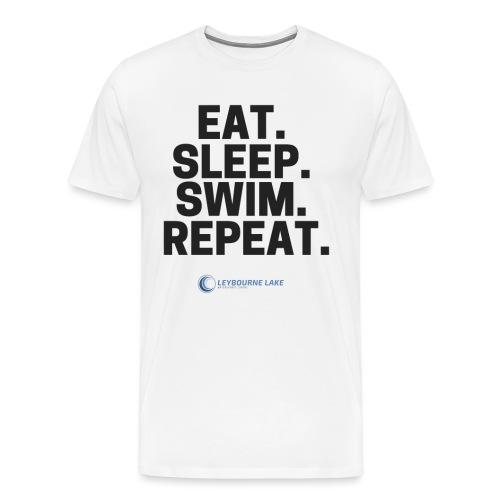 EAT. SLEEP. SWIM. REPEAT. - Men's Premium T-Shirt