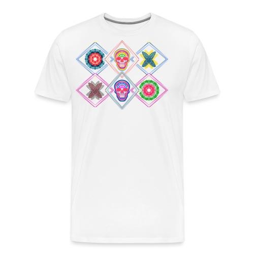 Rombos skulls - Camiseta premium hombre