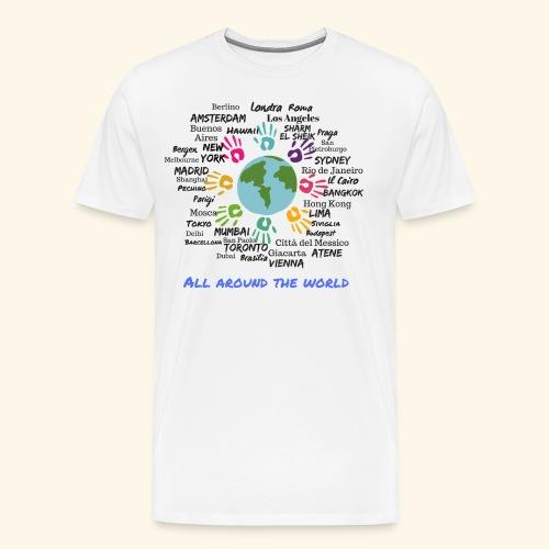 All around the world uomo - Maglietta Premium da uomo