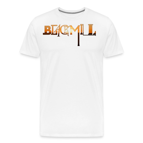 BLACKMILL small Fonts orange - Men's Premium T-Shirt