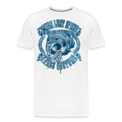 Kabes Sins of a Biker - Men's Premium T-Shirt