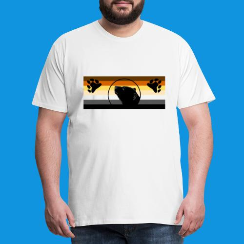 Griz Bear Flag - Men's Premium T-Shirt