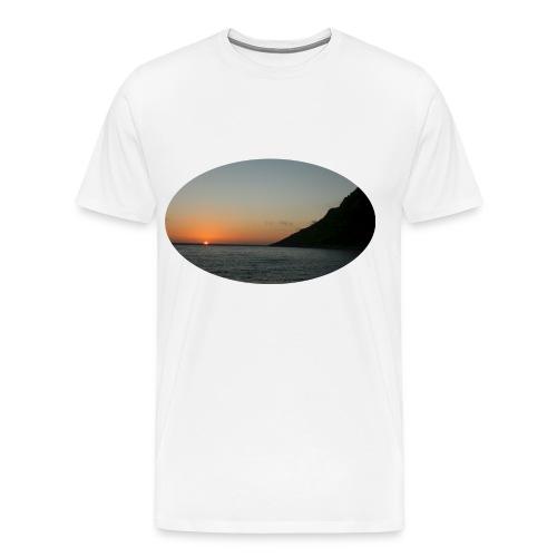 midnattsol 7650a png - Premium T-skjorte for menn