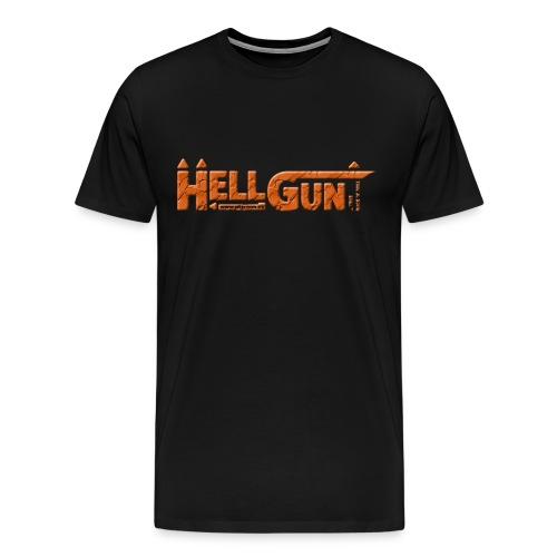 HELLGUN logo 2014 orange png - Männer Premium T-Shirt