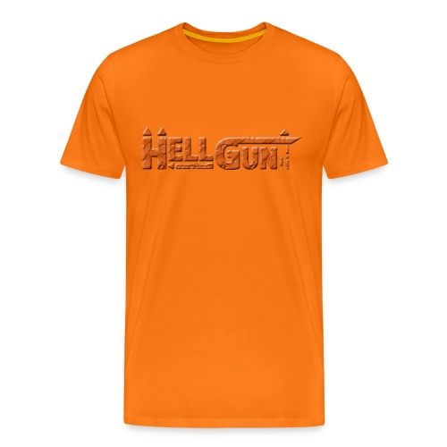 HELLGUN logo 2014 orange png - Männer Premium T-Shirt