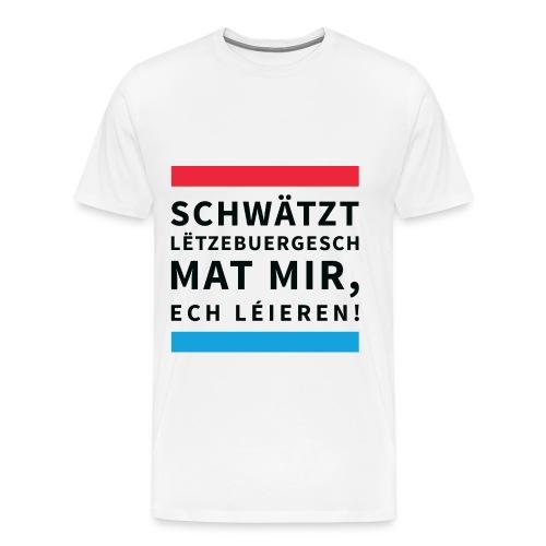 Schwätzt Lëtzebuergesch - Men's Premium T-Shirt
