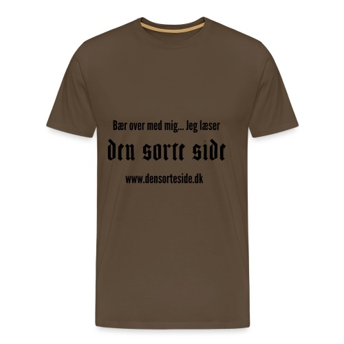 Den Sorte Side - Herre premium T-shirt
