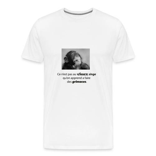 vieux singe et grimace 3 png - T-shirt Premium Homme