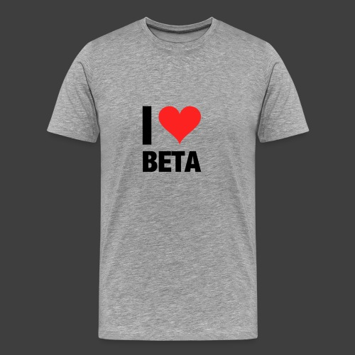 I Love Beta - Männer Premium T-Shirt