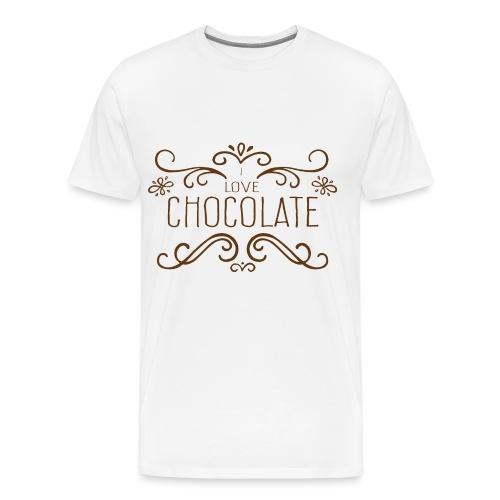I Love Chocolate - T-shirt Premium Homme