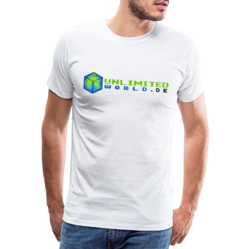 UW Logo mit schwarzem DE - Männer Premium T-Shirt