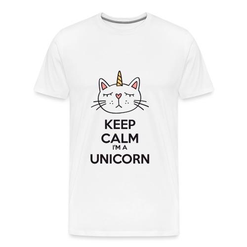 Keep calm cat licorne - Men's Premium T-Shirt