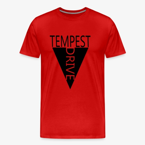 Komprimeret logo - Herre premium T-shirt