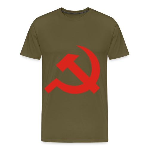 red Hammer and Sickle - T-shirt Premium Homme