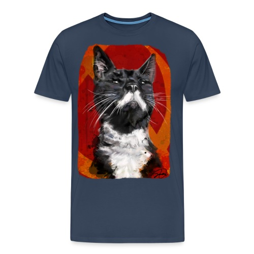 Stalin the Cat USSR - Men's Premium T-Shirt